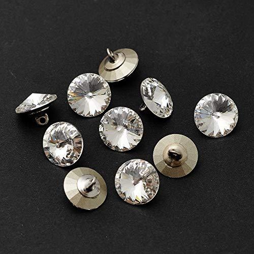 Joyce Trim 10-pcs 11mm Swarovski 1122 Rivoli Button with Shank, SW-1122BT (Crystal) ()