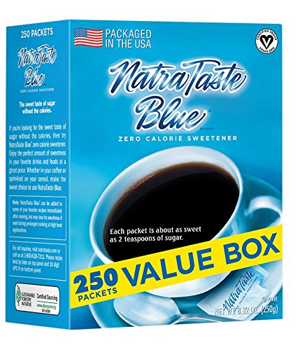 (NatraTaste Blue Zero Calorie Sweetener, 250 Count Packets)