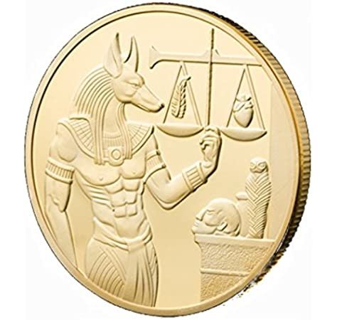 OZUKO Antigua Egipto Anubis Challenge Coin Mitología egipcia Libra ...