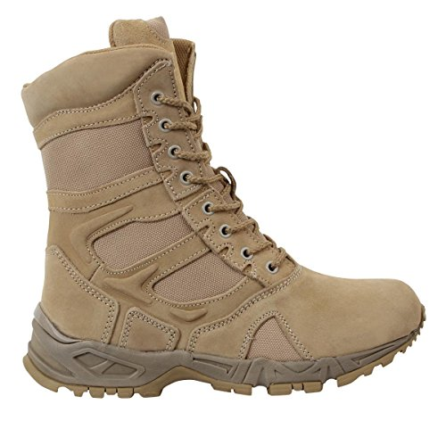 Rothco 8'' Forced Entry Desert Tan Side Zip Boot