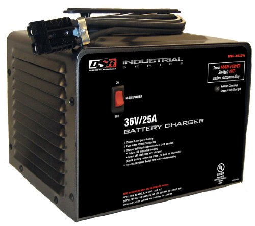 Schumacher INC-3625A '25 Amp' 36V Digital Charger (Battery Charger 36v)