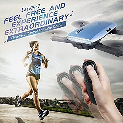JJRC H47 RC Drone with 720P HD WiFi FPV Camera Quacopter with Gravity Sensor Foldable Drone Helicopter Quadcopter-3 Batteries, Altitude Hold, Headless Mode(Blue): Toys & Games