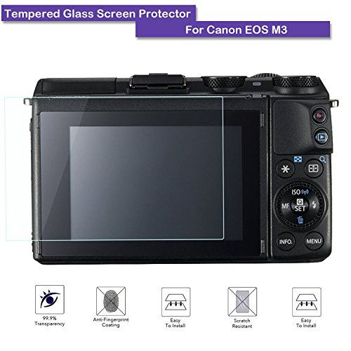 MOTONG LCD Tempered Glass Screen Protector For Canon EOS M3 M10 M10 100D,9 H Hardness,0.3mm Thickness,Made From Real Glass (Tempered - Screen Canon Rebel Protector Sl1
