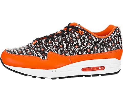 - Nike Air Max 1 Premium Mens Running Trainers 875844 Sneakers Shoes (UK 10.5 US 11.5 EU 45.5, Black Total Orange White 008)