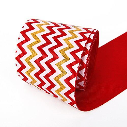 Grosgrain Ribbon Glitter Chevron Swirls Waves Pattern Ribbon 3