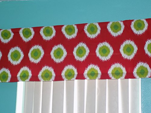 Red Green Dot Circle indow Curtain Valance 54