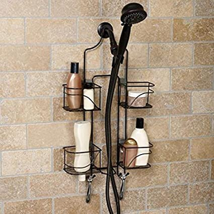 Amazon.com: Hawthorne Expanding Shower Caddy, Bronze: Home & Kitchen