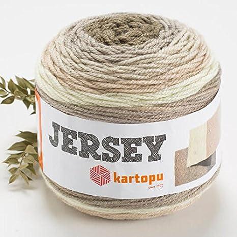 Kartopu Jersey Multi-Colored Cake Yarn 7.1 Oz Soft H1403 20/% Turkish Wool // 394 Yrds 360m 200g Medium-Worsted Wool Yarn