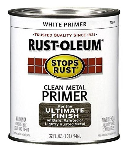 rotective Enamel Paint Stops Rust, 32-Ounce, Flat White Clean Metal Primer by Rust-Oleum (Clean Metal Primer)