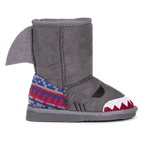 Pictures of MUK LUKS Boys Kid's Finn Shark Grey 9 M US Toddler 2
