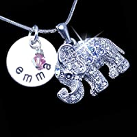 Personalized Elephant Charm Necklace | Elephant Charm Jewelry | Silver Elephant Charm Necklace | Personalized Elephant Necklace for Women and Girls | Silver Elephant Necklace Personalized