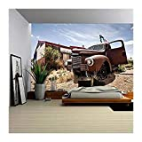 wall26 - Abandoned Restaraunt on Route 66 Road in Usa - Removable Wall Mural | Self-adhesive Large Wallpaper - 100x144 inches