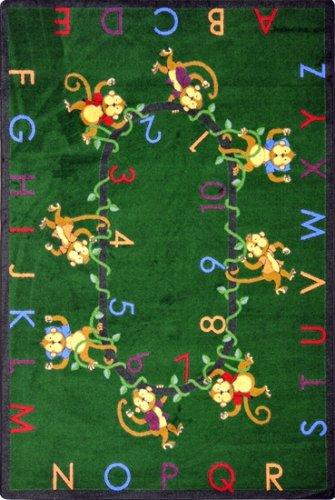 Joy Carpets Monkey (Educational Monkey Business Kids Rug Rug Size: 5'4