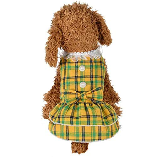 (Spring and Summer Pearl Dot Skirt Dog Costumes Pet Clothes Cotton Dot Print)