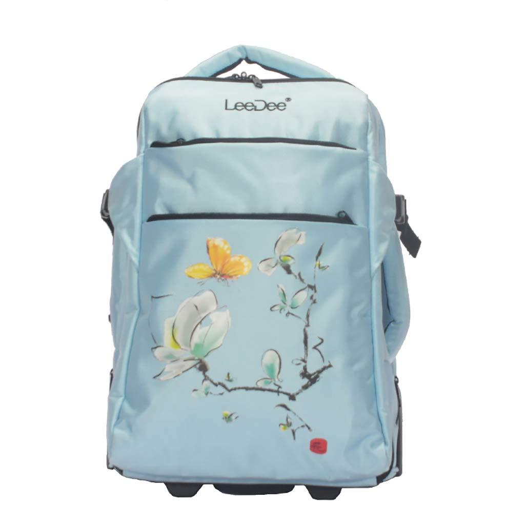学校のラップトップバッグを旅する少年のためのトロリーバックパック大容量ストレージウィールドローリングバックパック防水旅の荷物   B07NMYX282
