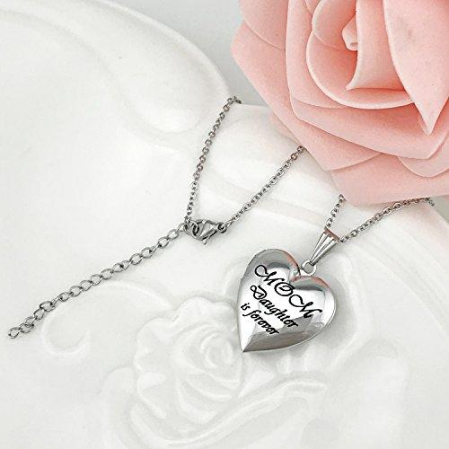 Festa Che Collana Mom Is Foto Medaglione Jewellery Della Mamma Donna Regali Può Love Contenere Daughter Forever Youfeng Gioielli Cuore qC8HOzBw