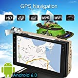 "FidgetFidget GPS Navi MP5 Player Double 2Din 7"" Android 6.0 Car Stereo Radio WiFi Bluetooth"