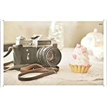 Zenit E Camera And A Cupcake 27548 Metal Plate Tin Sign Poster Wall Decor (20*30cm) By Jake Box