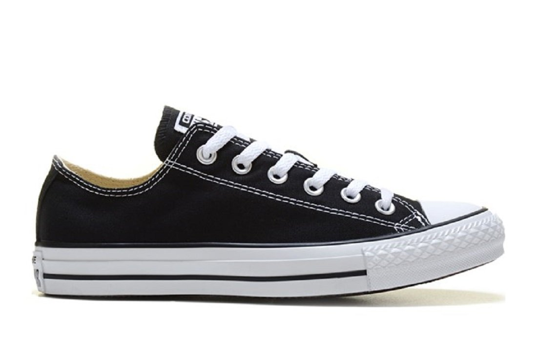 Converse Unisex Chuck Taylor All Star Low Top Black/White Sneakers - 12.5 B(M) US Women / 10.5 D(M) US Men
