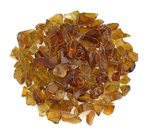 American Fireglass Coffee Recycled Fire Pit Glass – Medium (18-28Mm) , 10 lb. Bag