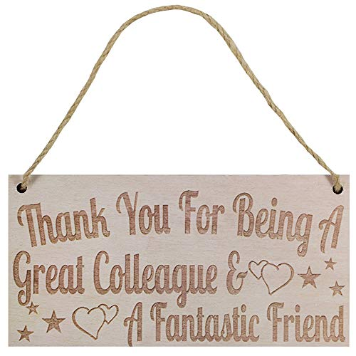 windiy 1 Pcs Colleague Appreciation Retirement Gift Hanging Plaque Thank You Colleague Retirement Colleague Gift for Him Birthday Print
