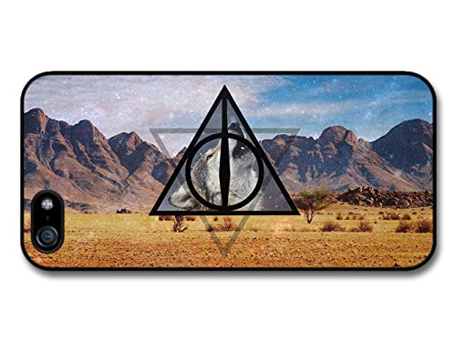 Triangles Hipster Wolf Mountains Background Funny coque pour iPhone 5 5S