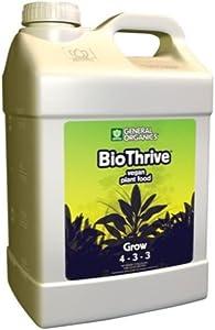 General Hydroponics GL56726804 GH5124 Organics BioThrive Grow, 2.5-Gallon fertilizers, 2.5 Gallon