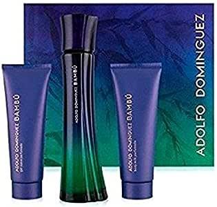 Adolfo Dominguez Bambu - Kit de Viaje con Agua de Tocador 50 ml + Gel 50 ml + Locion 50 ml: Amazon.es: Belleza
