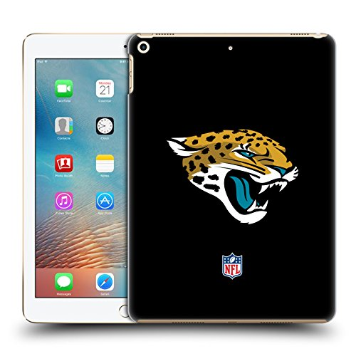 Official NFL Plain Jacksonville Jaguars Logo Hard Back Case for iPad 9.7 2017 / iPad 9.7 2018 by Head Case Designs