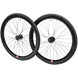 Retrospec Bicycles Mantra Fixed-Gear/Single-Speed Wheelset with 700 x 25C Kenda Kwest Tires and Sealed Hubs