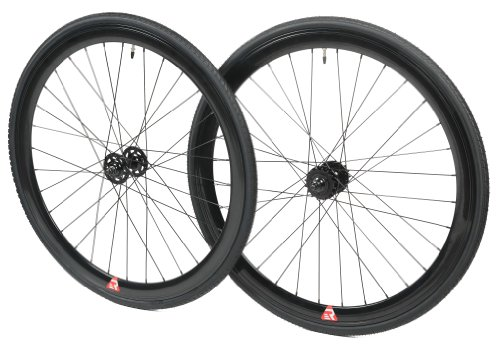 Retrospec Bicycles Mantra Fixed-Gear/Single-Speed Wheelset with 700 x 25C Kenda Kwest Tires and Sealed Hubs, Black