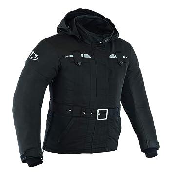JET Chaqueta Moto Mujer Ligero Textil Impermeable con Armadura TASLAN (XL (ES 42), Negro)