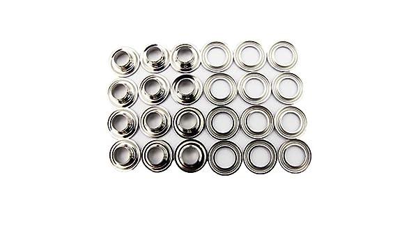 Osborne 12 Sets Self-Piercing Nickel Grommets /& Washers #N3-3 7//16 Hole C.S