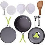 Camping Cookware Mess Kit Backpacking Cookware Hiking...