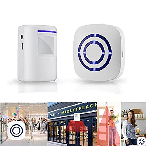 Modern Design Automatic Sensor Front Door Entering Notification Bell infrared Alarm Accessories Widely used for Hotel, Office, Shop, Home and other place (Bell Tanker)