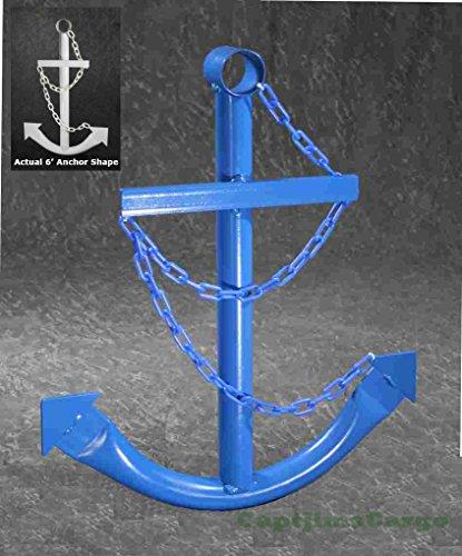 Blue Ship's Wall Garden Yard Art Decor Large Metal Nautical