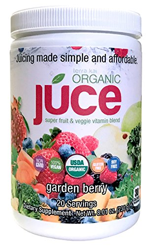 Health Drink Mix (Terra Kai Organics Júce Super Fruit and Veggie Blend Drink, 8.01-Ounce (Garden Berry))