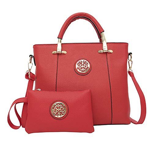 a a nazionale Borsa a portatile rossa donna pezzi design Gsyddjb stile tracolla rosa due per Lychee qHpxwS7w