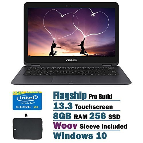 ASUS ZenBook UX360CA 2 in 1 Flagship High Performance 13.3 inch Full HD Touchscreen Laptop PC, Intel Core m3-6Y30 Dual-Core,...
