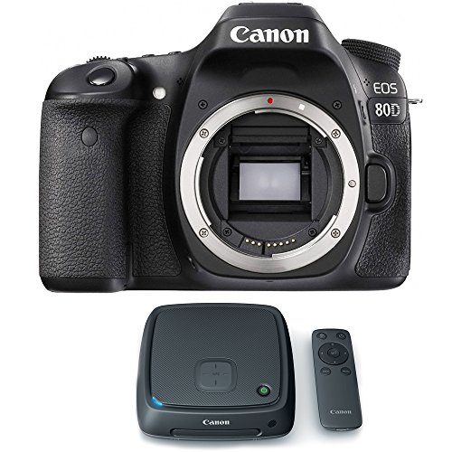 Canon EOS 80D 24.2 MP CMOS Digital SLR Camera w/ CS100 1TB Connect Station Storage Hub Bundle by Canon