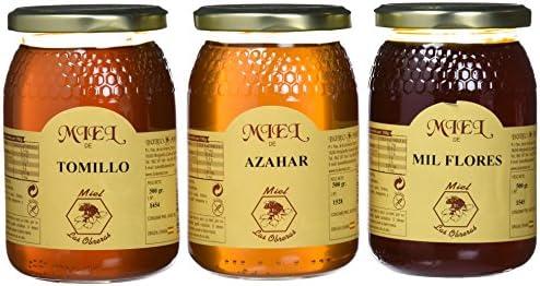 Miel Las Obreras pack 3 variedades 500 g - Total 1500 g: Amazon.es: Alimentación y bebidas
