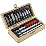 X-ACTO Basic Knife Set | Set Contains 3 Precision Knives, 10 Precision Knife Blades, Wooden Chest for Storage (14 Count)