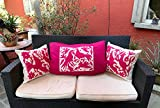 Unique!-Mexican Design- Big Pink pillow case made from hand embroidered Otomi fabric. 60 x 70 cm./2ft x 28 inch