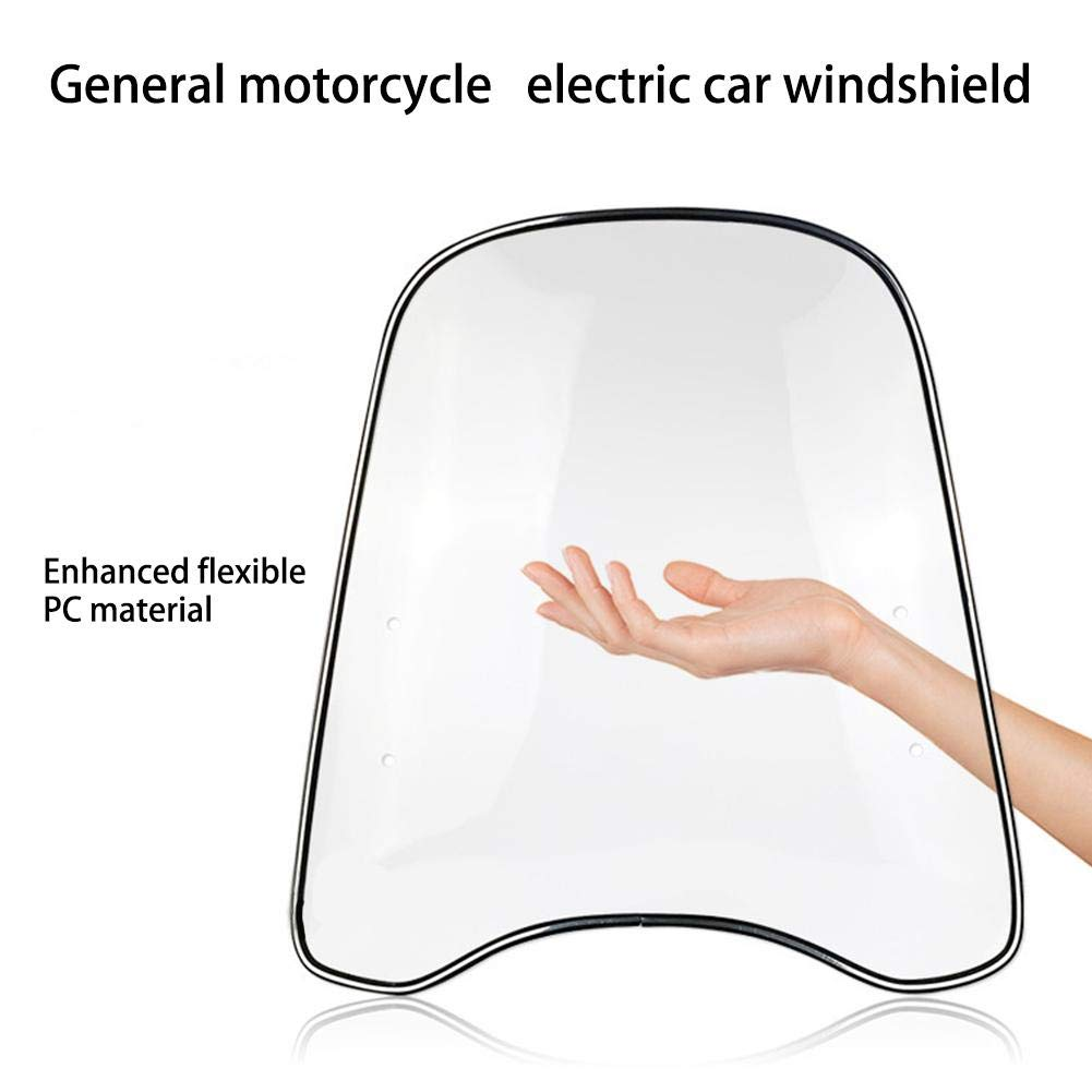 Cuttey Motorrad Windschutzscheibe Elektrische Motorrad-Windschutzscheibe Universal-PC-Windschutzscheibe Verbreiterte Randwindschutzscheibe