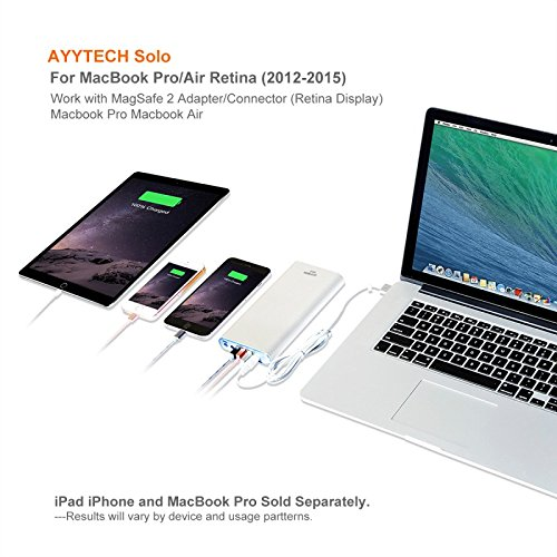 AYYTECH Solo 40000mAh Portable Charger Power Bank External Battery for Macbook Pro Air Charge 2006 to 2015 Apple Mac Latop Notebook, USB QC 3.0 Quick Charge for tablet and smartphone(A09-A1S) by AYYTECH (Image #2)
