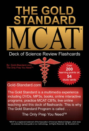 The Gold Standard new MCAT CBT Deck of Flashcards (Science Review)