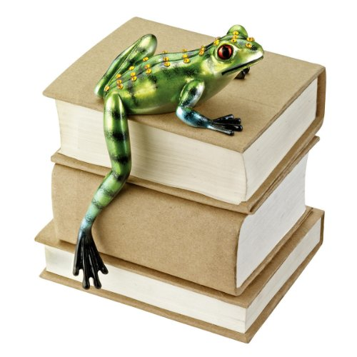 Frog Shelf Sitter (Design Toscano Jungle Forest Tree Frog Shelf Sitter, Full Color)