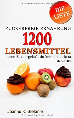 Zuckerfreie Ernährung - 1200 Lebensmittel, deren Zuckergehalt du kennen solltest: Die Liste