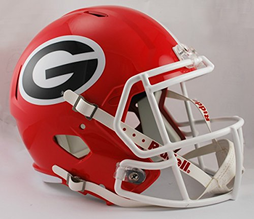 Georgia Bulldogs Riddell Full Size Speed Deluxe Replica Football Helmet - New in Riddell Box Bulldogs Deluxe Replica Helmet