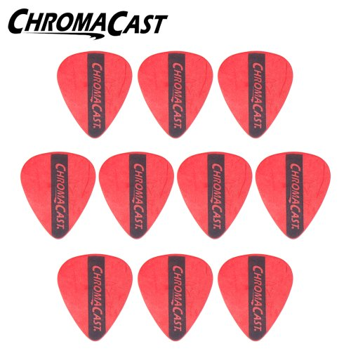 ChromaCast CC-DP-RD-10PK Dura Picks - 10 Pick Pack - Red